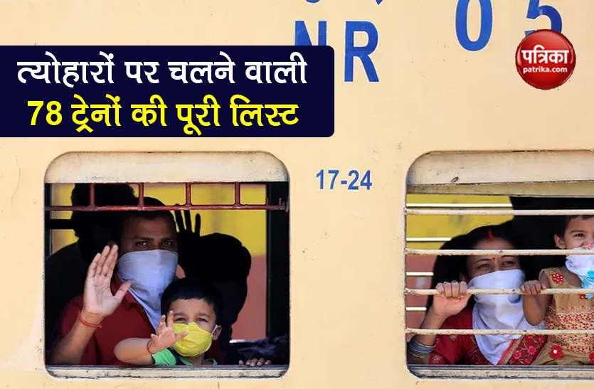 Indian Railways: नवरात्र से पहले कहां-कहां चलेंगी नई AC Special Train, यहां देखें 78 ट्रेनों की पूरी लिस्ट