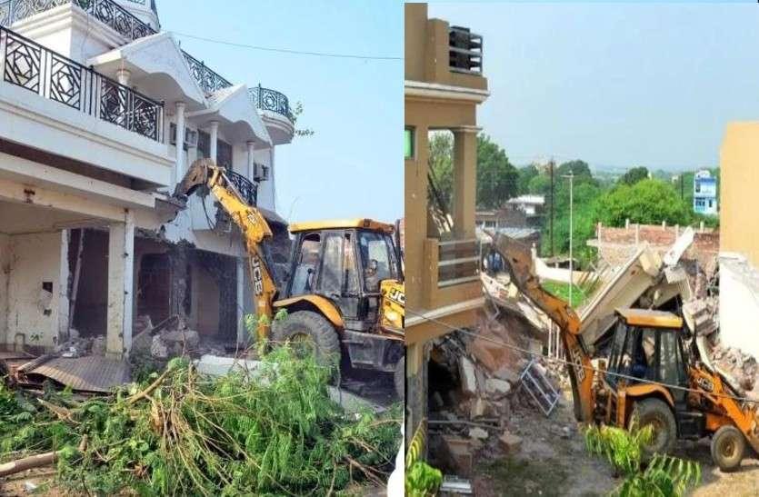 पूर्व सपा विधायक विजमा यादव के भाई रामलोचन यादव का करोड़ों का घर व गेस्ट हाउस योगी सरकार ने गिराया