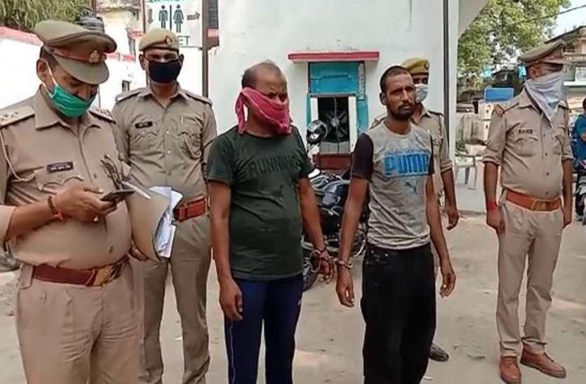 पुलिस मुठभेड़ में दो शातिर लुटेरे गिरफ्तार, आधा दर्जन बाइक बरामद