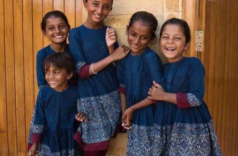सब्यसाची ने जैसलमेर के स्कूल की बच्चियों के लिए डिजाइन की यूनिफॉर्म