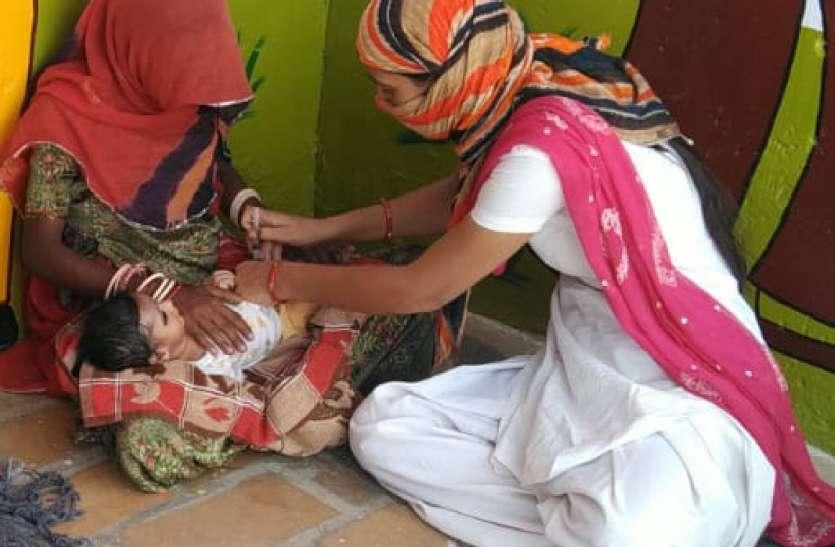 244 गर्भवती महिलाओं व 1,314 बच्चों का टीकाकरण