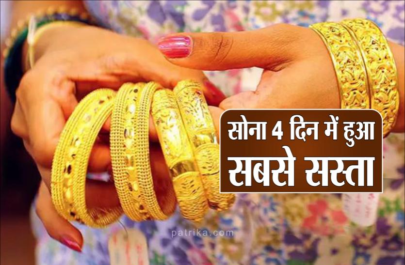 gold rate lowest: सोना चार दिन में हुआ सबसे सस्ता, दशहरा बाद फिर बढ़ सकते हैं भाव