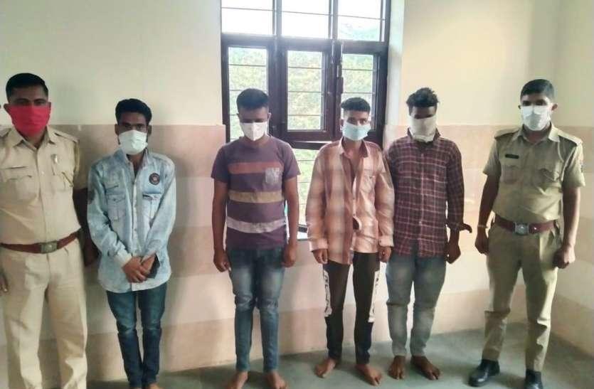 हाइवे पर आगजनी व लूटपाट करने वाले आठ गिरफ्तार