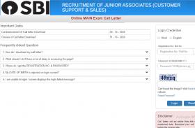 SBI Junior Associates  Mains admit card 2020 जारी, मुख्य परीक्षा के एडमिट कार्ड यहां से करें डाउनलोड