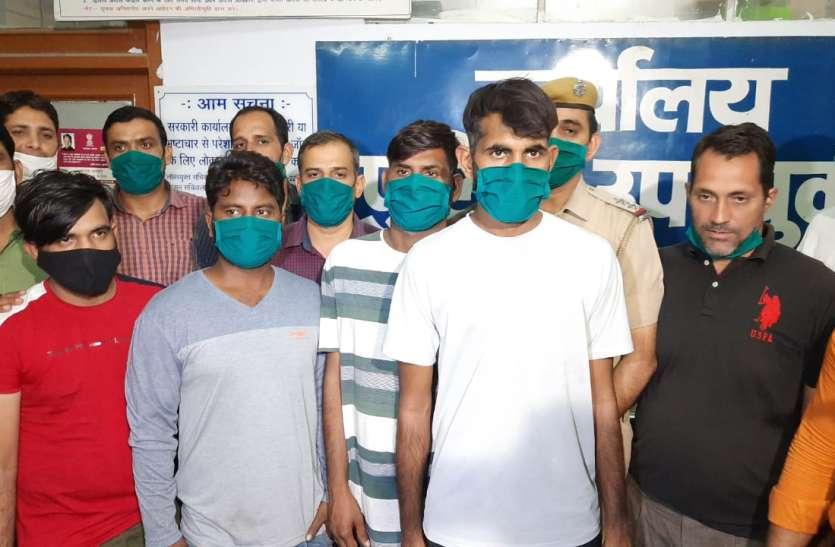 आभूषण व्यापारी से एक करोड़ लूटने वाले चार बदमाश गिरफ्तार