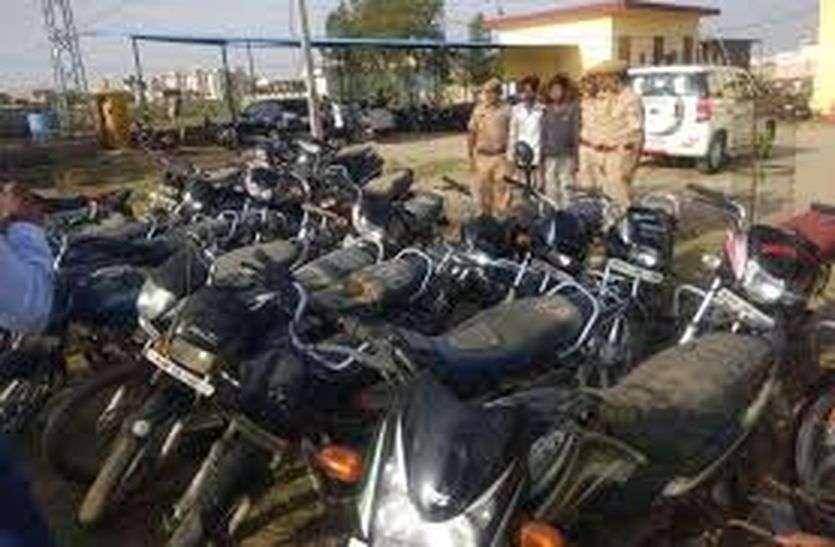 अजमेर, नागौर व पाली जिले से चुराई11 बाइकें बरामद, तीन आरोपियों को पीसांगन पुलिस ने दबोचा