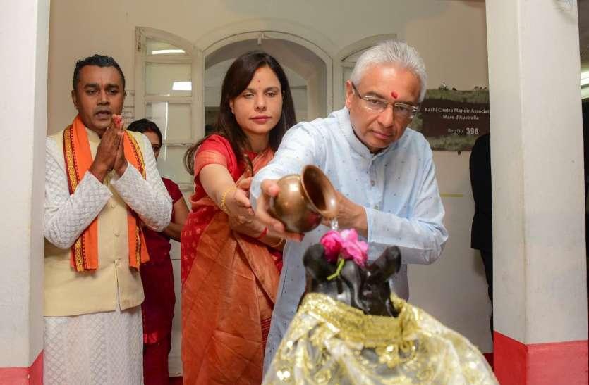 मॉरीशस के पीएम ने घर पर की मां दुर्गा की पूजा-अर्चना, Twitter पर शेयर की तस्वीर