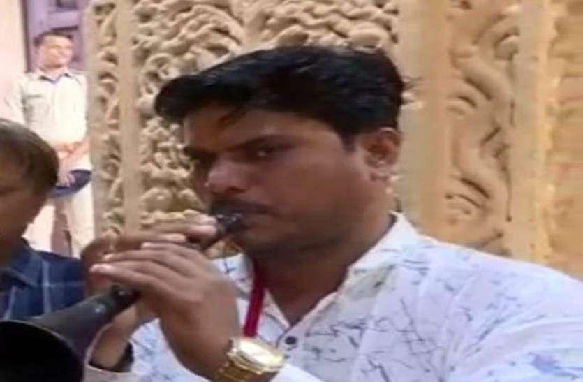 नवरात्र में गूंजी शहनाई की धुन पर मां आद्य शक्ति की आरती