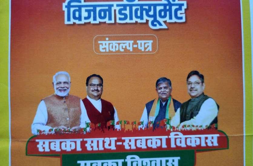 भाजपा के विजन डॉक्यूमेंट में राजे का फोटो गायब, कांग्रेस उठाने लगी सवाल