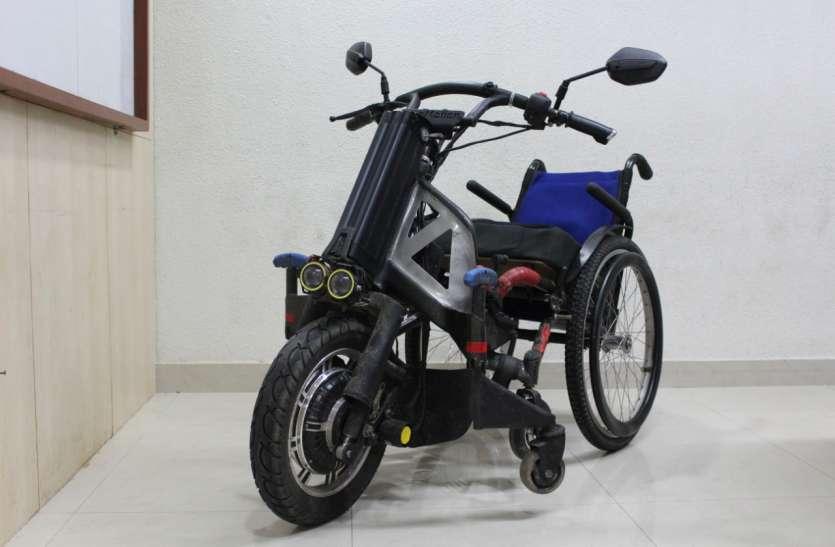 कच्चे-पक्के व ऊबड़-खाबड़ रास्तों को आसानी से पार कर जाएगी बैटरी चालित व्हील चेयर