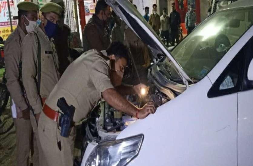 मेरठ के कबाड़ी बाजार में पुलिस का छापा, तीन लग्जरी गाड़ी बरामद