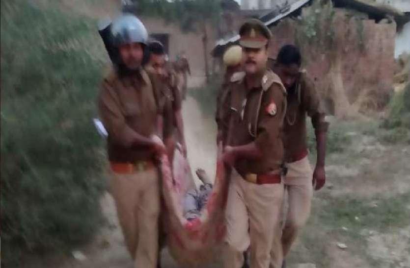 दबंगों ने पिता-पुत्र की गोली मारकर की हत्या, गांव में तनाव के चलते 12 थानों की पुलिस फोर्स तैनात