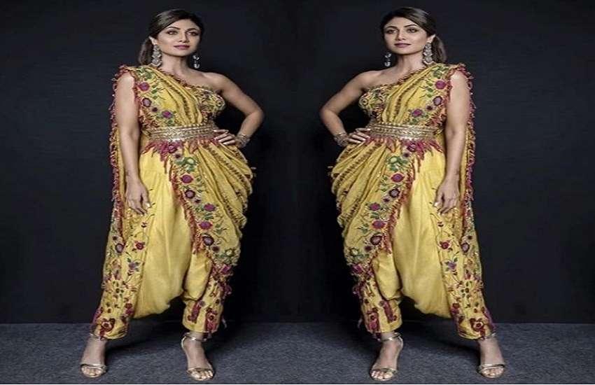 designer saree worn on Deepawali