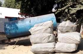 फतेहपुर में टैंकर से एक करोड़ का गांजा बरामद, दो तस्कर गिरफ्तार