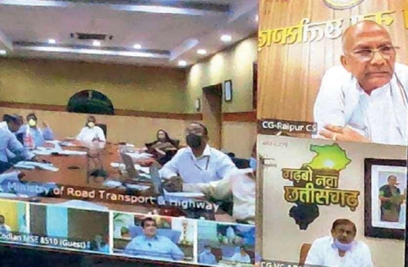 केंद्रीय मंत्री गडकरी ने लगाई फटकार, रायपुर-सिमगा-बिलासपुर राजमार्ग के ठेकेदार को नोटिस