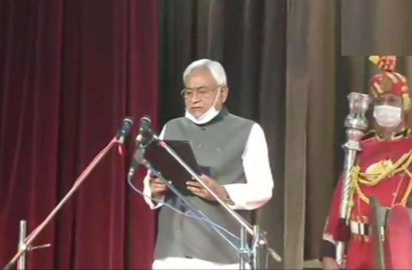 नीतीश कुमार ने संभाली बिहार की कमान, जेडीयू-बीजेपी से पांच-पांच मंत्री