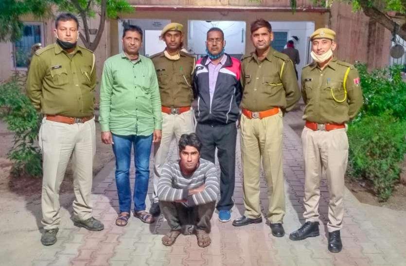 चाकू की नोक पर कंटेनर चालक से लूट का फरार आरोपी गिरफ्तार