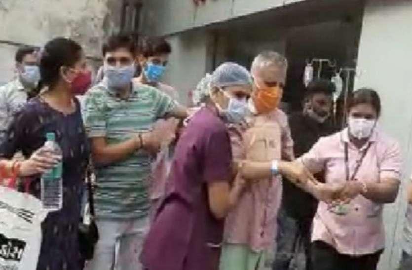 FIRE : अस्पताल की आग में हुआ 80 लाख का नुकसान !
