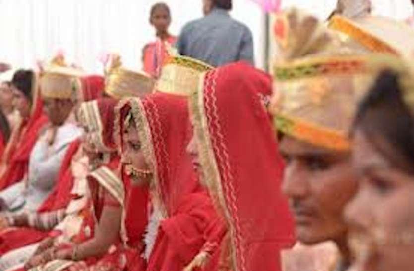 मुख्यमंत्री सामूहिक विवाह योजना में 160 बेटियों के हाथ हुए पीले,हिन्दू, मुस्लिम और बौद्ध धर्म कीपुत्रियों की हुई शादी
