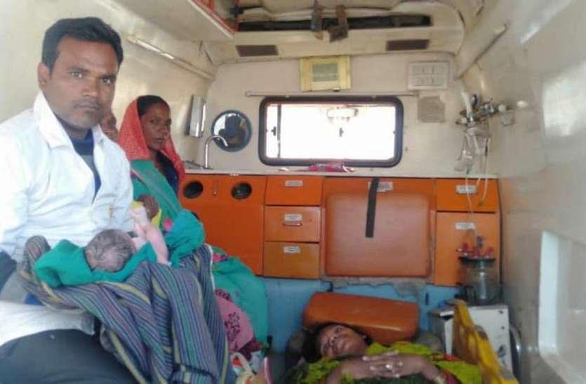ईएमटी और पायलट ने एम्बुलेंस में कराया सुरक्षित प्रसव