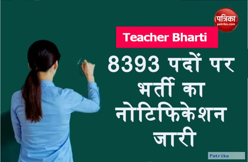 Teacher Recruitment 2020:  प्री प्राइमरी टीचर के 8393 पदों पर भर्ती का नोटिफिकेशन जारी, आवेदन जल्द होंगे शुरू