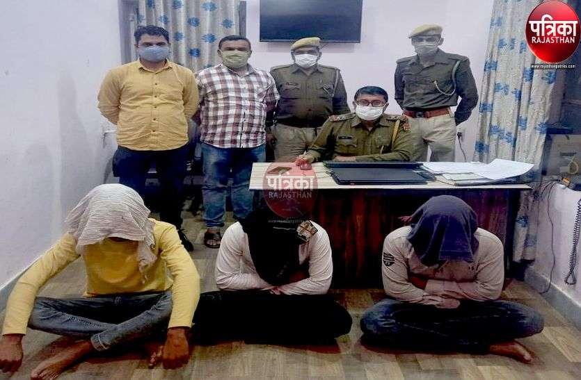 पाली : ब्यावर के शातिर कंठी लूट गिरोह का राजफाश, पांच युवक गिरफ्तार, चार वारदातें कबूली