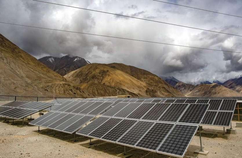 लद्दाख: भारतीय वायु सेना के स्टेशन पर सबसे बड़ी सौर्य परियोजना