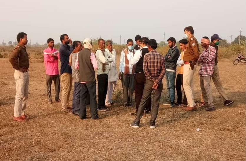 जेपी की जमीन का सीमांकन करने पहुंची टीम, ग्रामीणों ने किया विरोध