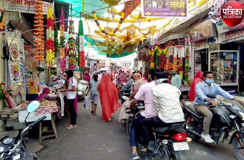 शहर के मुख्य बाजारों में अतिक्रमण, पैदल चलना मुश्किल