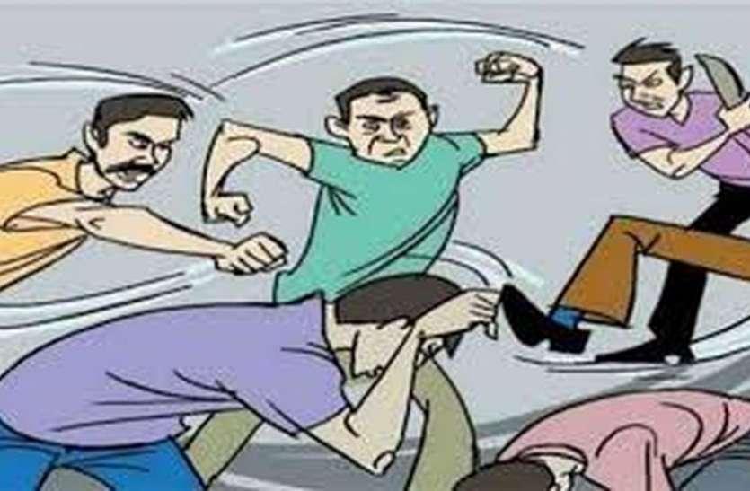 Violence : अमरोली में जोर से आवाज देने पर चली तलवारें