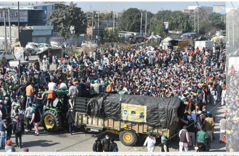 Big Action Of Delhi Police Amidst Farmers' Movement, Traffic Block On  Tikri-Indus Border - किसान आंदोलन के बीच दिल्ली पुलिस का बड़ा एक्शन,  टिकरी-सिंधू बॉर्डर पर ट्रैफिक ब्लॉक | Patrika ...