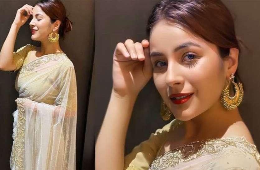 Shehnaaz Gill का साड़ी में दिखा खूबसूरत अंदाज, तस्वीरें हुईं वायरल