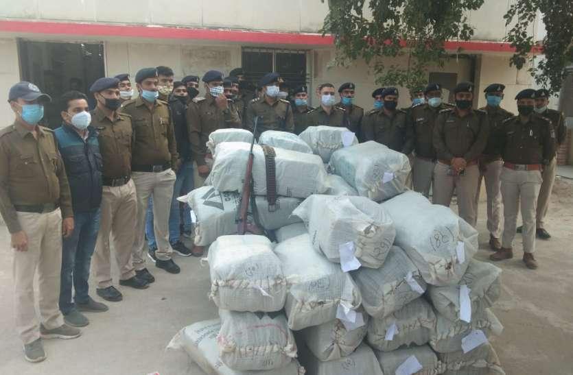 कंटेनर से  1.70  करोड़ का 845 किलो गांजा जब्त, आठ आरोपी गिरफ्तार