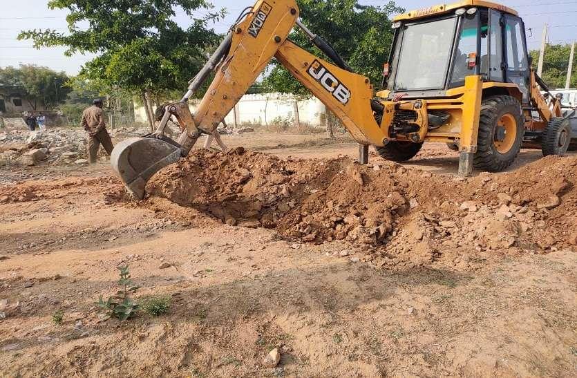 लोहामंडी योजना की 10 बीघा भूमि से अवैध निर्माण ध्वस्त
