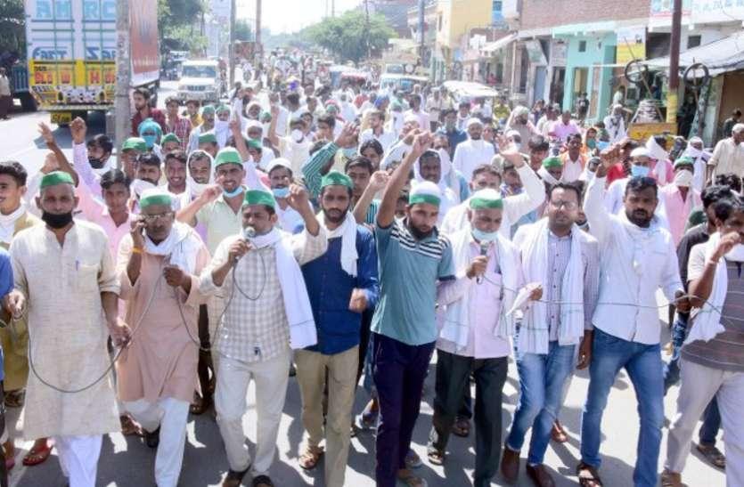 प्रदर्शन कर रहे किसान नेताओं को 50 लाख का नोटिस जारी करते ही बैकफुट पर आया पुलिस प्रशासन