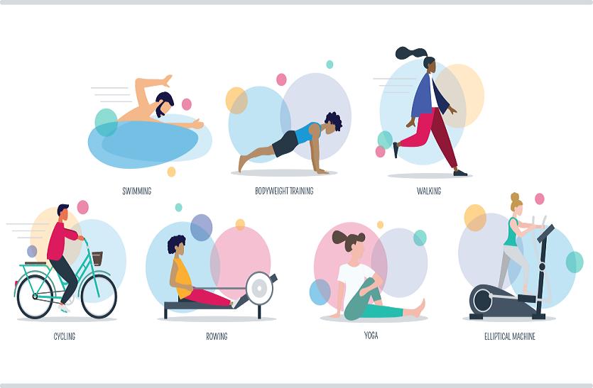 30-50 मिनट रोज व्यायाम करने से तनाव, असाध्य व पुरानी बीमारियों का खतरा घटता