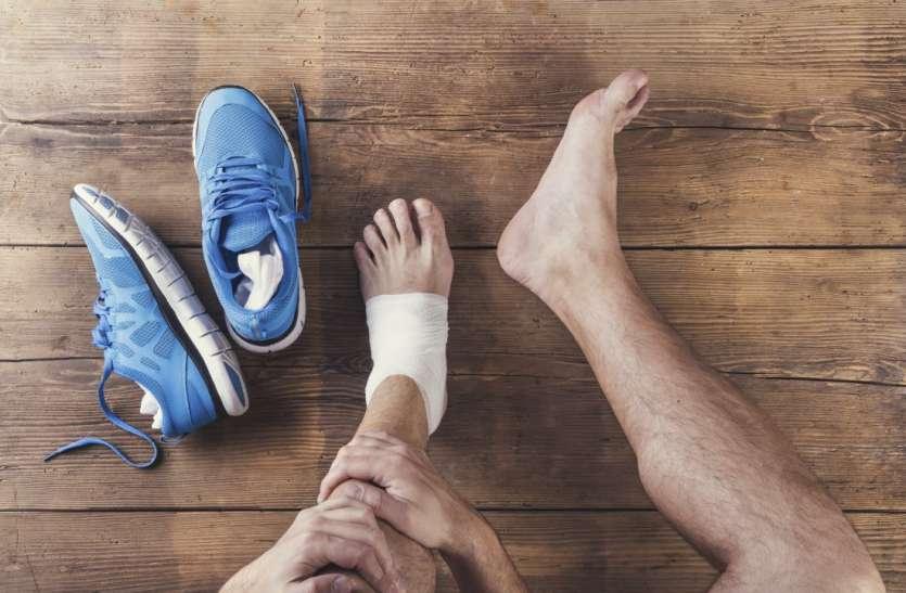 अचानक ज्यादा भागदौड़ से भी होता है टखने में दर्द