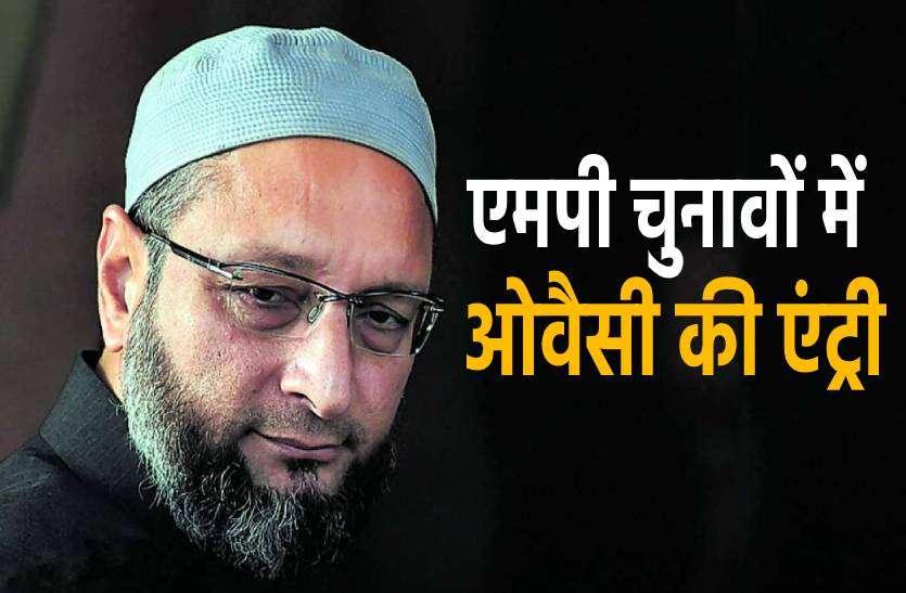एमपी में चुनाव लड़ने की तैयारी में ओवैसी की पार्टी, मुस्लिम बाहुल्य जिलों की सीटों पर नजर