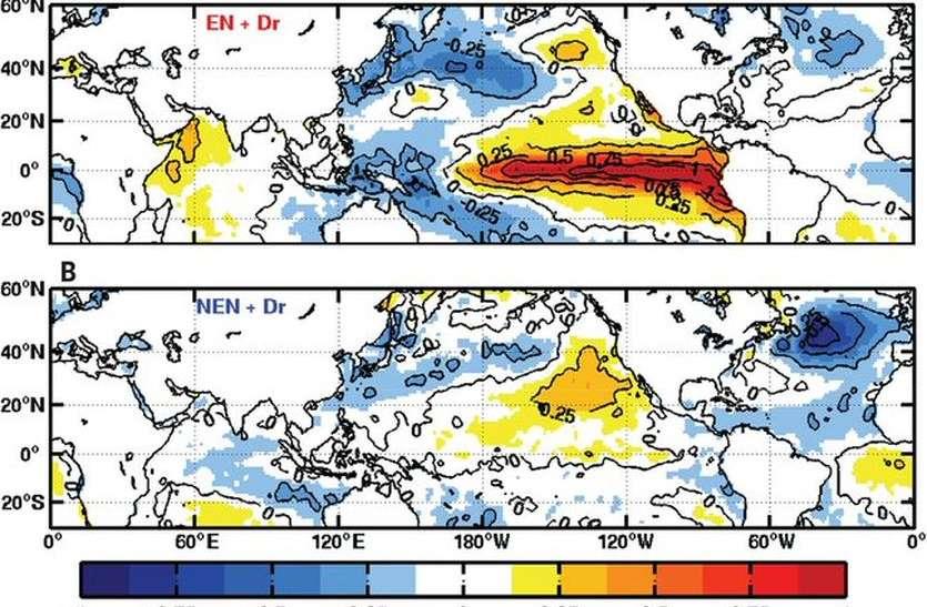 देश में सूखे के हालात पैदा करती हैं उत्तर अटलांटिक वायु धाराएं