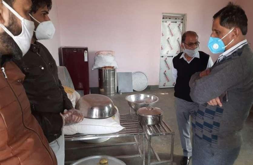अतिरिक्त जिला कलक्टर ने किया इंदिरा रसोई व रैन बसेरों का निरीक्षण