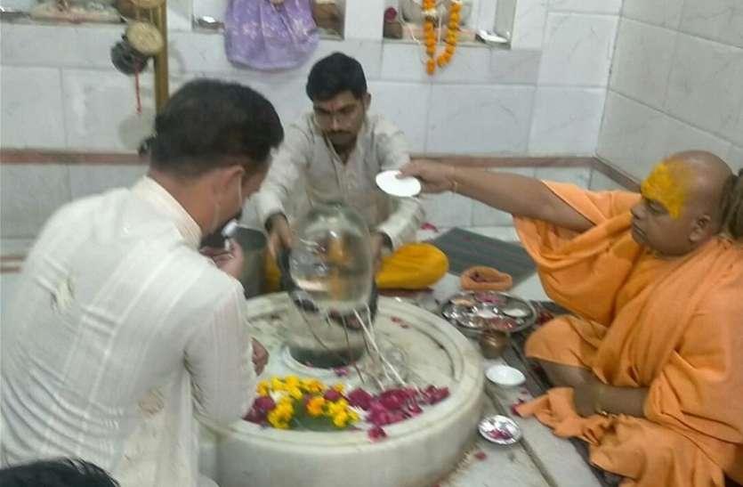 कोरोना  से मुक्ति  के लिए वेदपाठियों ने किया  महामृत्युंजय अनुष्ठान