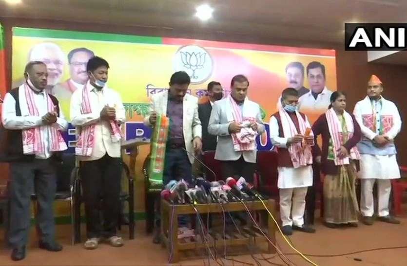 असम कांग्रेस से निष्कासित विधायकों ने थामा भाजपा का दामन