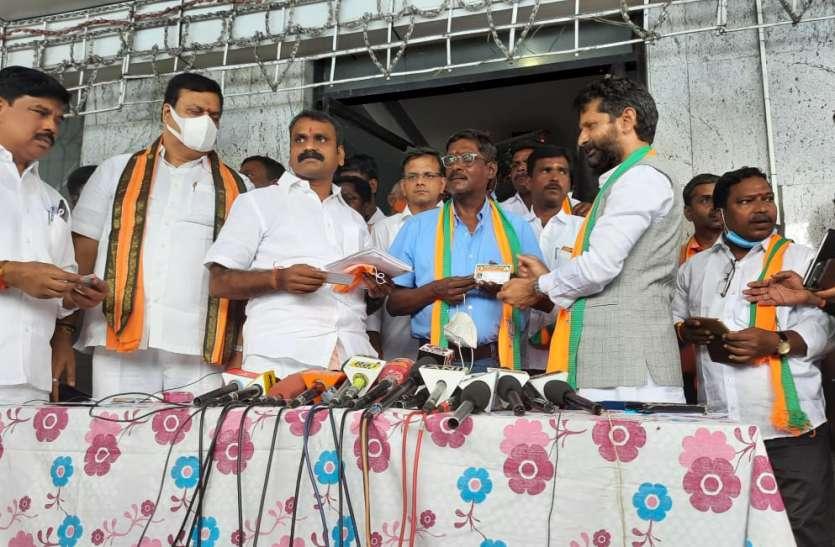 तमिलनाडु: पूर्व क्रिकेटर लक्ष्मण शिवरामकृष्णन ने बीजेपी की सदस्यता ली
