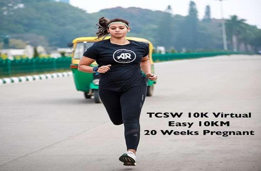 5 महीने की प्रेग्नेंट महिला Ankita Gaur ने 10 किलोमीटर की रेस पूरी करके कर दिया हैरान