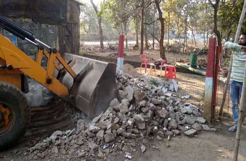 भिलाई में डंके की चोट पर BSP की जमीन पर कब्जा, रातोरात सड़क किनारे डेढ़ सौ प्लॉट की कर डाली मार्किंग