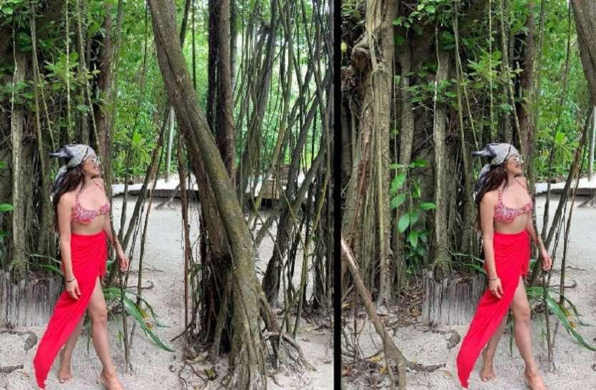 Kiara Advani का रेड बिकिनी लुक देख फैंस हुए घायल, सोशल मीडिया पर वायरल हुई तस्वीर