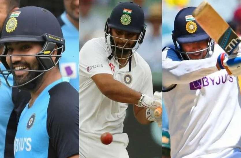 जांच के बाद ही तीसरे टेस्ट में खेल सकते हैं रोहित शर्मा, गिल और पंत!