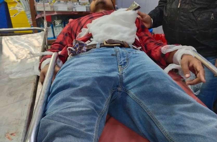 पलसाणा में प्रेम प्रकरण में युवक पर चाकू से हमला