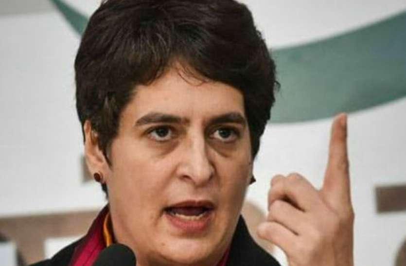 महिला सुरक्षा पर यूपी सरकार की नीयत में खोट : प्रियंका गांधी