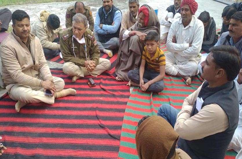 ग्रामीणों ने किया अनशन स्थिगित, पुलिस ने मांगा एक माह का समय